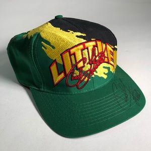 Carl Little Autographed John Deere Snap Back Hat